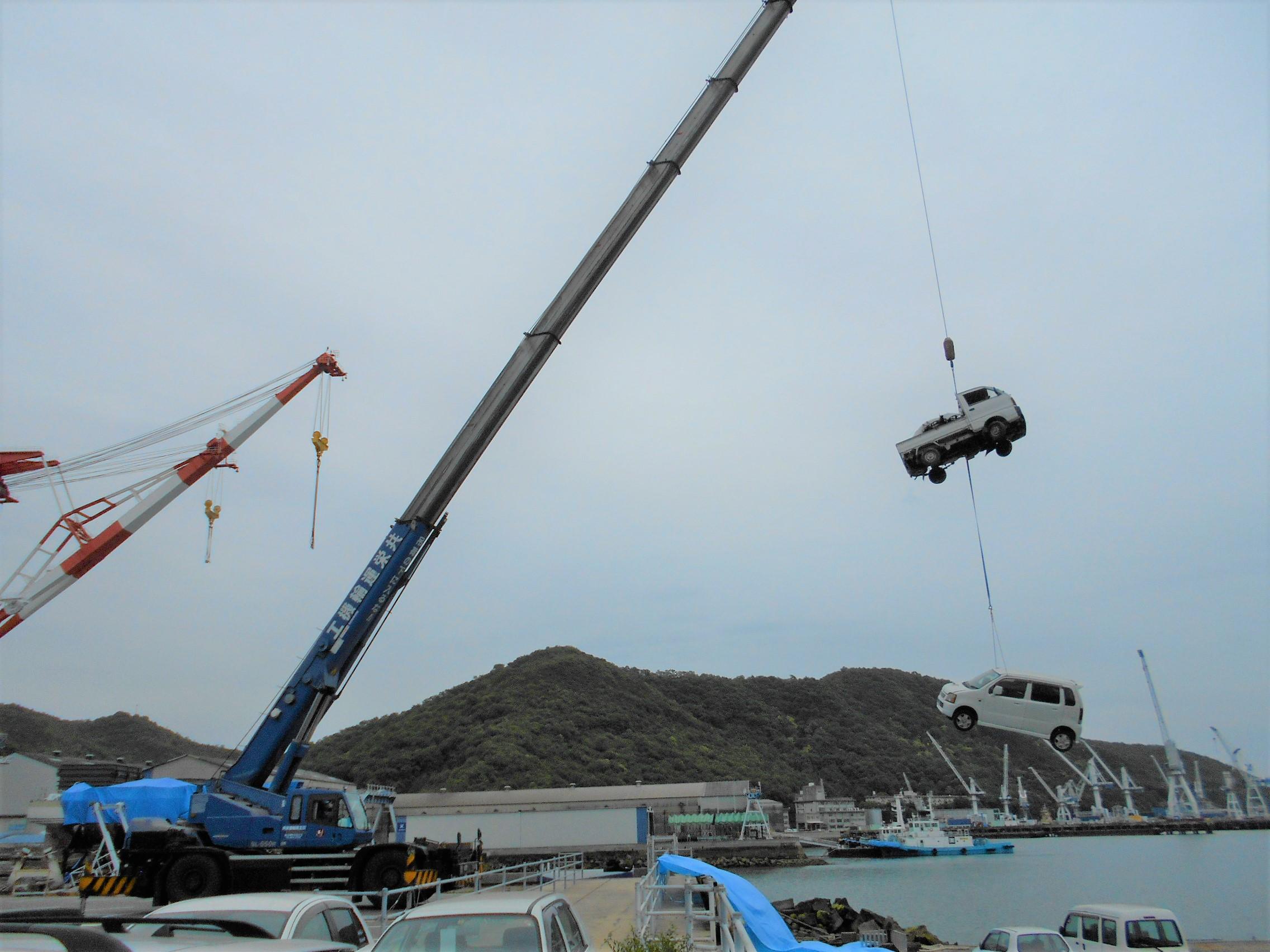 ツネイシCバリューズ、今年で16回目の離島支援活動~使用済み自動車回収 ~